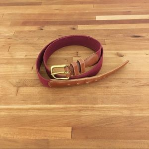 Coach Accessories - Vintage Coach belt brown leather and red fabric